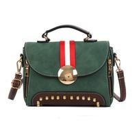 england haberci toptan satış-Yeni trend Moda Vintage İngiltere Stil PU Deri Kadın haberci çanta Çanta Küçük Mini Messenger Daire Fermuar Omuz Çantaları
