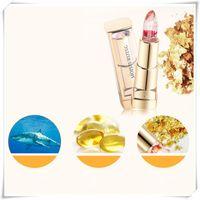 flower jelly lipstick toptan satış-Ruj Orijinal Çiçek Bakımı Sıcaklık Renk Değişimi Nemlendirici Jöle Dudak Balsamı su geçirmez çıplak dudak parlatıcısı makyaj kozmetik