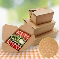 Wholesale fast food packages for sale - kitchen disposable food containers paper packing box packaging box for fast food shop restaurant supplier QW9025