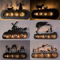 lamparas america al por mayor-La moda del restaurante país de América creativa caballo industrial lámpara de pared de la iluminación E27 estilo de animales para Bar Dormitorio Sala de estudio