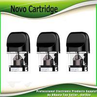 ingrosso atomizzatori vuoti riutilizzabili-Original Novo Cartridges Tank 2ml Atomizzatore per pod di ricambio vuoto ricaricabile per Novo Kit 100% autentico