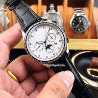 Wholesale red star pin for sale - Group buy Luxry Top version G White Star Chen Date Dial Silvery L Steel Case Automatic Mechanical Mens Watch Leather Strap Sport Watches