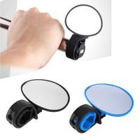 evrensel aynalar toptan satış-Bisiklet Bisiklet Evrensel Ayarlanabilir Dikiz Aynası Gidon Dikiz Aynası bisiklet aksesuarları Esnek Güvenlik Dikiz LJJZ493