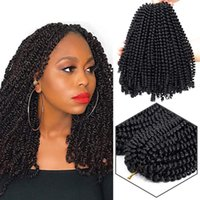 Wholesale kinky curl hair ombre online - 3pcs pack inch strands Kinky Curl Spring Twist Crochet Braids Curly Weave Braiding hair Synthetic Spring Twist ombre braiding hair