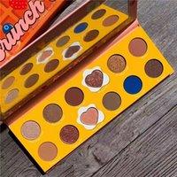 makyaj 12 renk göz farı toptan satış-Colourpop 12 Renk Toz Palet Göz Gölge Sıkıştırılmış Zoella işbirliği Makyaj kızarmış Yumurta Eyeshadow BRUNCH TARİH x