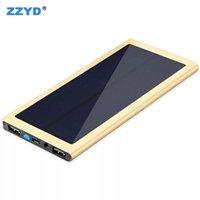 caja de linterna al por menor al por mayor-ZZYD 20000Amh Banco de la energía solar LED linterna que acampa de la lámpara portátil cargador de batería para el teléfono móvil Whit caja al por menor