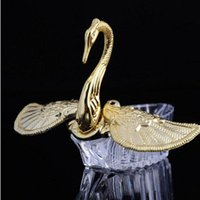 Wholesale silver swan favors for sale - Group buy European Styles Acrylic Gold Silver Swan Sweet Wedding Gift Jewely Candy Box Candy Gift Boxes Wedding Favors Holders