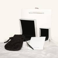 sacos de embalagem de pano venda por atacado-Alta qualidade Original Caixa de Embalagem de Exibição de Jóias Conjunto Para Pandora Charme Pulseira Anel Colar Caixas De Presente Sacos de papel Polimento Pano