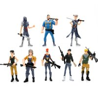 ingrosso giocattoli per bambini per la notte-8pcs / set Fortress Night Llama Action PVC Figure Toy Battle Royale Personaggio di gioco Fortezza Modello Figure Toy Boy Regalo per bambini
