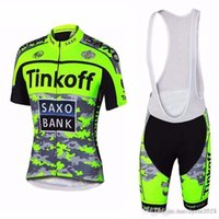 Wholesale saxo cycling online - SAXO BANK team Short Sleeve Cycling jersey bib shorts set Summer Breathable Wear shirt D gel pad MTB Bike Ropa Ciclismo Cycling Clothing