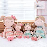 bonecas de pano venda por atacado-Gloveleya Bonecas de Pelúcia Primavera Menina Boneca Presentes Bonecas de Pano Crianças Boneca De Pano De Pelúcia Brinquedos Kawaii