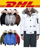 mejores marcas de piel al por mayor-Chaquetas de abrigo con capucha Outwear lobo real mujeres de la piel del diseñador del invierno abrigos esquimales de Canadá la mejor calidad de marca abajo cubren grueso de lujo