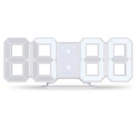 masa masası çalar saat toptan satış-3D LED Duvar Saati Modern Dijital Çalar Saat Ekran Ev Mutfak Ofis Masa Danışma Gece Duvar 24 Veya 12 Saat Ekran