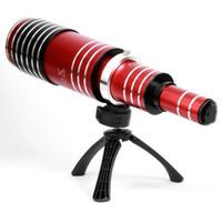 ingrosso stick selfie per nota-Obiettivi di lenti del telefono della macchina fotografica del teleobiettivo del telescopio dello zoom eccellente di alluminio universale 80X per la nota 9 della galassia di Samsung
