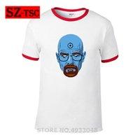 tişörtlü baskılı isim toptan satış-Breaking Bad erkekler rahat kısa kollu t gömlek Benim Adım Walt Beyaz retro baskılı erkek moda yenilik Heisenberg serin tee tops
