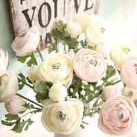 chá vivo venda por atacado-Lulian Artificial Chá Rosa Simulação de Flores de Chá Rosa de Seda Chá Rosa Quarto Sala de estar Decoração de Casamento Fontes Do Partido Festivo