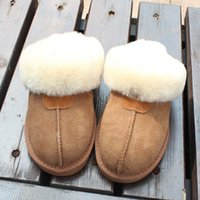 Wholesale High quality colors home wear sheep wool skin slippers flat indoor slippers