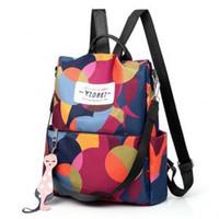 Women Floral Printed Canvas Backpack Zipper Laptop Bag Handbag Fashion  Outdoor Design Backpacks Single Shoulder Bag LLA193 4b940b1b69c20