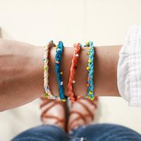 Wholesale colored beads for bracelets resale online - Tocona Boho Beach Wave Bracelets Colored beads Friendship Bracelet Set for Girl Party Jewelry Adjustable Drawstring Design