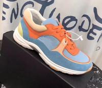 mens klasik deri elbise ayakkabıları toptan satış-Kaçak Düşük üst Sneaker Platformu Klasik Fransa Süet Deri Spor Kaykay Ayakkabı Mens Womens Sneakers Elbise Ayakkabı Spor Tenis