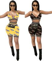 sütyen yüzme takımları toptan satış-Kadınlar Tasarımcı Mayo Sutyen + Şort 2 Parça Bikini Set FF Mektubu Swim Suit Yaz Moda Marka Tankin Fends Plaj Mayo C6401 Fends
