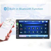 reproductor mp4 de pantalla táctil al por mayor-2 DIN 7010B coche MP5 HD de 7 pulgadas en el tablero pantalla táctil de Bluetooth Car Audio AM FM MP3 MP4 MP5