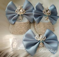 Wholesale perfect baby gifts resale online - Baby Blue Absolutely Stunning Crown Jewery Diamond Shoes Perfect for All Special Occasion Pregnant Keepsakes Gifts