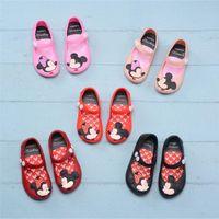 sandales filles achat en gros de-Enfants Chaussures Mini Melissa Designer Sandales de Bande Dessinée Antiskid Brethable Trous Chaussures Doux Gelée Rainbow Sandals Bébé Filles Plage Chaussures A61301