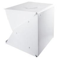 kutu atışı toptan satış-Taşınabilir Fotoğraf Stüdyosu Çekim Çadırı, 16 Inç Küçük Katlanabilir LED Işık Kutusu Softbox Kiti ile Fotoğraf için 4 Renkler Arka Planında,