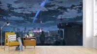 papel de anime al por mayor-[Autoadhesivo] 3D Your Name 535 Japan Anime Wall Paper mural Wall Print Decal Murals
