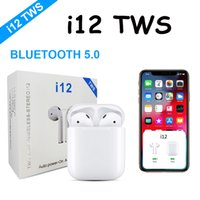 prix du chargeur bluetooth achat en gros de-Écouteurs sans fil i12 TWS Touch avec fenêtre contextuelle Casque Bluetooth V5.0 Écouteurs stéréo sans fil Écouteurs sans fil