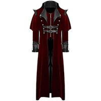 neue kostüme für männer großhandel-Vintage Steampunk Lange Mäntel Männer Royal Style Vampire Cosplay Kostüm 2019 Neue Design Männer Retro Gothic Mantel Frack