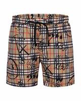 yeni pantolon desenli erkekler toptan satış-Yeni tasarımcı imza desen erkek yan çizgili şort orijinal erkek plaj şort yüksek kaliteli kaykay şort bol plaj pantolon