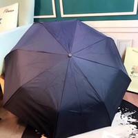 Wholesale men rain wear resale online - Brand Umbrella Sunscreen B Lattices LED Light Bumbershoot Women And Men VIP Gift Fashion Anti Wear Outdoor Portable fp F1