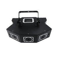 светодиодный прожектор dmx оптовых-DMX Сид Лазерная этап свет звук активировать автоматический полноцветный лазерный прожектор вращающийся партии диско света строба для KTV бар вечеринку