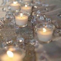 decorações de confetes de mesa de casamento venda por atacado-Moda Decoração de Casamento 1000 PCS 4.5mm Artesanato de Cristal Confetti Dispersores de Mesa Cristais Claros Peça Central Eventos Festa Suprimentos Festivos