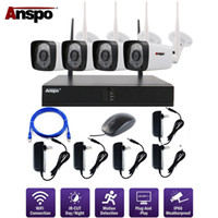 Wholesale surveillance system plug play for sale - Group buy Anspo P p Wifi Wireless CCTV Camera System Waterproof Home Surveillance Security System Plug and Play P2P NVR