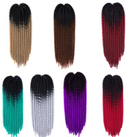 Wholesale ombre braiding hair online - Ombre Synthetic Hanava Mambo Twist Braiding Hair Inch G Crochet Braids Hair Extensions In Stock Customized