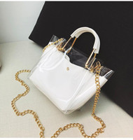 Wholesale wholesale jelly purses handbags for sale - Women Transparent Handbag PVC PU Shoulder Bag Jelly Female Messenger Bag Tote Girl Bolsas Beach Bag Purses Clear MMA1224