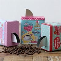 metall-dosen süßigkeiten-box großhandel-Platz Lagerung Eisen kann Kaffeebohne Süßigkeiten Snack Aufbewahrungsbox mit Schalter Stil Slot Minimalistischen Home Food Metal Jar