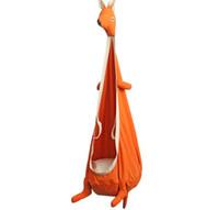 balanço de assento ao ar livre venda por atacado-Kangaroo Swing Cadeira Hammock Indoor Ao Ar Livre Assento de Suspensão Criança Balanço Assento de Móveis de Jardim Bonito Dos Desenhos Animados Cadeira de Balanço
