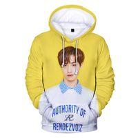 koreanische mädchen kapuzenpullis großhandel-Kpop Neue Design 3D Hoodie Korean Sänger Hoody Junge Mädchen Sweatshirt Männer Frauen Mantel Mode Outwear