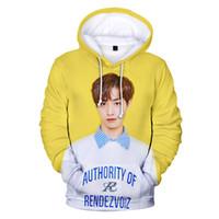kız moda hoody toptan satış-Kpop Yeni Tasarım 3D Hoodie Kore Şarkıcı Hoody Erkek Kız Kazak Erkek Kadın Ceket Moda Dış Giyim