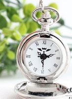 pleine poche en métal achat en gros de-Montre à quartz de haute qualité Full Metal Alchemist Dull Polish Pocket Watch enfants AAA110