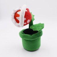 mario jouets en peluche gratuits achat en gros de-22cm Super Mario fleur anthropophage en peluche en peluche Mario jouets en peluche meilleure poupée cadeau lol Livraison gratuite