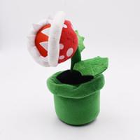 Wholesale men doll toys video online - 22cm Super Mario Man eater flower Plush Stuffed Toy Mario plush toys best gift doll lol