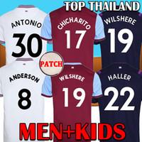 униформа рубашка оптовых-19 20 Soccer Jersey West ham Вест Хэм футбол футболка 2019 2020 футболки NOBLE АНДЕРСОН АРНАУТОВИЧ АНТОНИО Юнайтед футболка форменная мужчины + детский комплект