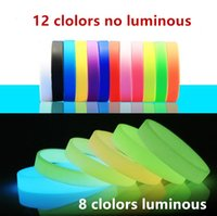 Wholesale fluorescence bead for sale - Group buy 2pcs Concert Party Luminous Silicone Bracelets Adult Kid Power Rubber wristband Men Women Fluorescence Bracelets hand bands gift