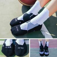 calcetines de tubo para adultos al por mayor-Calcetines deportivos Calcetines de baloncesto Élite Adultos Niños Hombres y mujeres Medias de tubo medio Toalla Parte inferior Calcetines deportivos