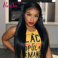 Wholesale long hair black silky women resale online - 360 Full Lace Frontal Human Hair Wigs Silky Straight Pre plucked Lace Front Wigs With Baby Hair Brazilian Remy Wig For Black Women